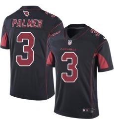 Men's Nike Arizona Cardinals #3 Carson Palmer Elite Black Rush Vapor Untouchable NFL Jersey