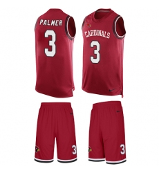 Men's Nike Arizona Cardinals #3 Carson Palmer Limited Red Tank Top Suit NFL Jersey