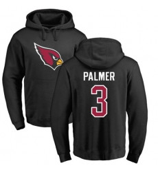 NFL Nike Arizona Cardinals #3 Carson Palmer Black Name & Number Logo Pullover Hoodie