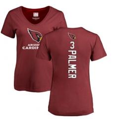 NFL Women's Nike Arizona Cardinals #3 Carson Palmer Maroon Backer T-Shirt