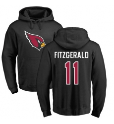 NFL Nike Arizona Cardinals #11 Larry Fitzgerald Black Name & Number Logo Pullover Hoodie
