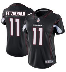 Women's Nike Arizona Cardinals #11 Larry Fitzgerald Black Alternate Vapor Untouchable Limited Player NFL Jersey