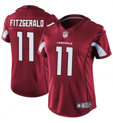 Women's Nike Arizona Cardinals #11 Larry Fitzgerald Red Team Color Vapor Untouchable Limited Player NFL Jersey