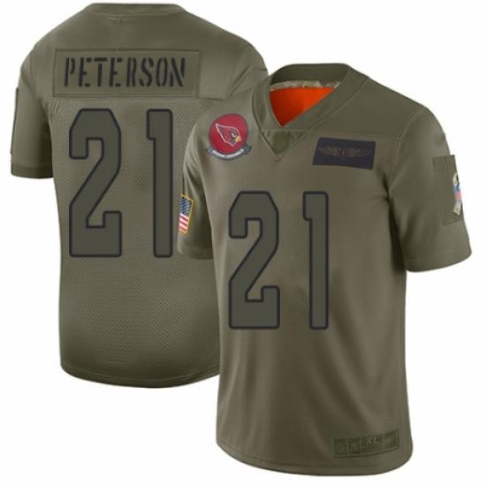 Men's Arizona Cardinals #21 Patrick Peterson Limited Camo 2019 Salute to Service Football Jersey