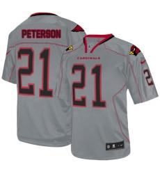 Men's Nike Arizona Cardinals #21 Patrick Peterson Elite Lights Out Grey NFL Jersey