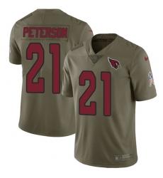 Men's Nike Arizona Cardinals #21 Patrick Peterson Limited Olive 2017 Salute to Service NFL Jersey
