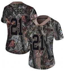 Women's Nike Arizona Cardinals #21 Patrick Peterson Limited Camo Rush Realtree NFL Jersey