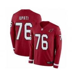 Men's Nike Arizona Cardinals #76 Mike Iupati Limited Red Therma Long Sleeve NFL Jersey