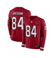 Men's Nike Arizona Cardinals #84 Jermaine Gresham Limited Red Therma Long Sleeve NFL Jersey