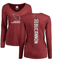 NFL Women's Nike Arizona Cardinals #20 Deone Bucannon Maroon Backer Long Sleeve T-Shirt