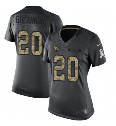 Women's Nike Arizona Cardinals #20 Deone Bucannon Limited Black 2016 Salute to Service NFL Jersey