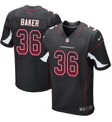 Men's Nike Arizona Cardinals #36 Budda Baker Elite Black Alternate Drift Fashion NFL Jersey