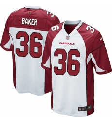 Men's Nike Arizona Cardinals #36 Budda Baker Game White NFL Jersey