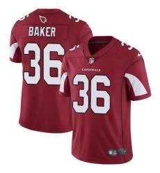 Men's Nike Arizona Cardinals #36 Budda Baker Red Team Color Vapor Untouchable Limited Player NFL Jersey