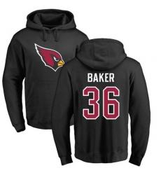 NFL Nike Arizona Cardinals #36 Budda Baker Black Name & Number Logo Pullover Hoodie