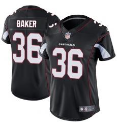Women's Nike Arizona Cardinals #36 Budda Baker Black Alternate Vapor Untouchable Limited Player NFL Jersey