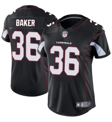 Women's Nike Arizona Cardinals #36 Budda Baker Elite Black Alternate NFL Jersey