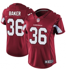 Women's Nike Arizona Cardinals #36 Budda Baker Red Team Color Vapor Untouchable Limited Player NFL Jersey