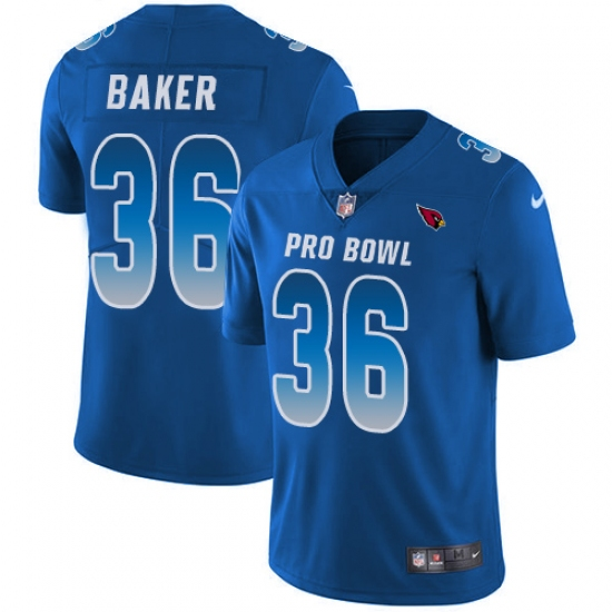 Youth Nike Arizona Cardinals #36 Budda Baker Limited Royal Blue 2018 Pro Bowl NFL Jersey