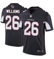Men's Nike Arizona Cardinals #26 Brandon Williams Black Alternate Vapor Untouchable Limited Player NFL Jersey