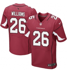 Men's Nike Arizona Cardinals #26 Brandon Williams Elite Red Team Color NFL Jersey