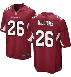 Men's Nike Arizona Cardinals #26 Brandon Williams Game Red Team Color NFL Jersey