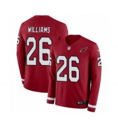 Men's Nike Arizona Cardinals #26 Brandon Williams Limited Red Therma Long Sleeve NFL Jersey