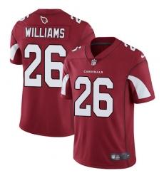 Men's Nike Arizona Cardinals #26 Brandon Williams Red Team Color Vapor Untouchable Limited Player NFL Jersey