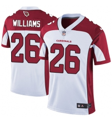 Men's Nike Arizona Cardinals #26 Brandon Williams White Vapor Untouchable Limited Player NFL Jersey