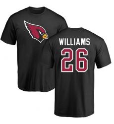 NFL Nike Arizona Cardinals #26 Brandon Williams Black Name & Number Logo T-Shirt