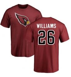 NFL Nike Arizona Cardinals #26 Brandon Williams Maroon Name & Number Logo Personalized T-Shirt