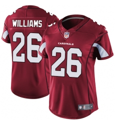 Women's Nike Arizona Cardinals #26 Brandon Williams Elite Red Team Color NFL Jersey