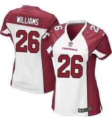 Women's Nike Arizona Cardinals #26 Brandon Williams Game White NFL Jersey