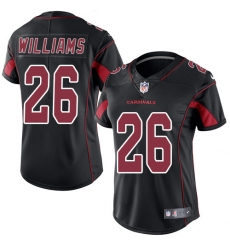 Women's Nike Arizona Cardinals #26 Brandon Williams Limited Black Rush Vapor Untouchable NFL Jersey