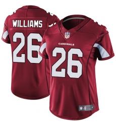 Women's Nike Arizona Cardinals #26 Brandon Williams Red Team Color Vapor Untouchable Limited Player NFL Jersey