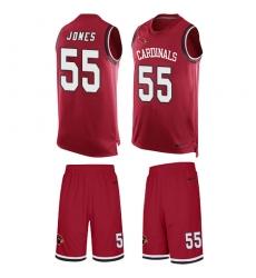 Men's Nike Arizona Cardinals #55 Chandler Jones Limited Red Tank Top Suit NFL Jersey