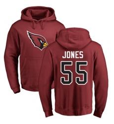 NFL Nike Arizona Cardinals #55 Chandler Jones Maroon Name & Number Logo Pullover Hoodie