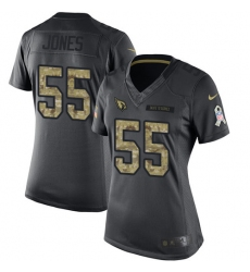 Women's Nike Arizona Cardinals #55 Chandler Jones Limited Black 2016 Salute to Service NFL Jersey