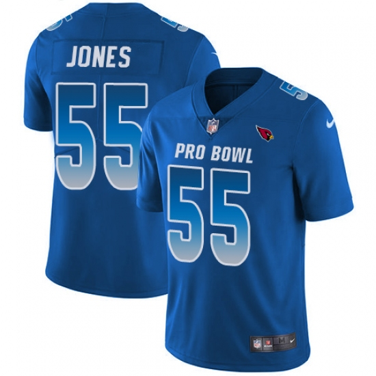 Youth Nike Arizona Cardinals #55 Chandler Jones Limited Royal Blue 2018 Pro Bowl NFL Jersey