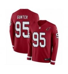 Men's Nike Arizona Cardinals #95 Rodney Gunter Limited Red Therma Long Sleeve NFL Jersey