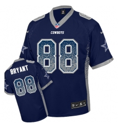 Men's Nike Dallas Cowboys #88 Dez Bryant Elite Navy Blue Drift Fashion NFL Jersey