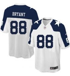 Men's Nike Dallas Cowboys #88 Dez Bryant Game White Throwback Alternate NFL Jersey