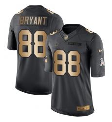 Men's Nike Dallas Cowboys #88 Dez Bryant Limited Black/Gold Salute to Service NFL Jersey