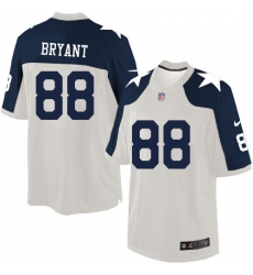 Men's Nike Dallas Cowboys #88 Dez Bryant Limited White Throwback Alternate NFL Jersey