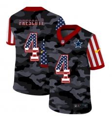 Men's Dallas Cowboys #4 Dak Prescott Camo Flag Nike Limited Jersey
