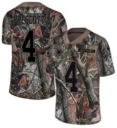 Men's Nike Dallas Cowboys #4 Dak Prescott Camo Rush Realtree Limited NFL Jersey