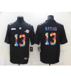 Men's Miami Dolphins #13 Dan Marino Rainbow Version Nike Limited Jersey