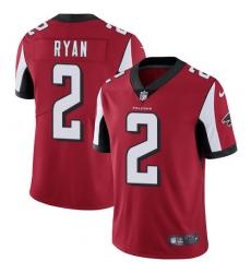 Men's Nike Atlanta Falcons #2 Matt Ryan Red Team Color Vapor Untouchable Limited Player NFL Jersey