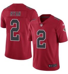 Youth Nike Atlanta Falcons #2 Matt Ryan Limited Red Rush Vapor Untouchable NFL Jersey