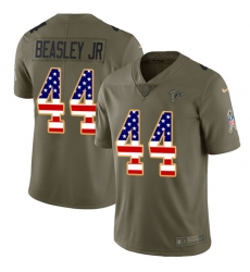 Men's Nike Atlanta Falcons #44 Vic Beasley Limited Olive/USA Flag 2017 Salute to Service NFL Jersey